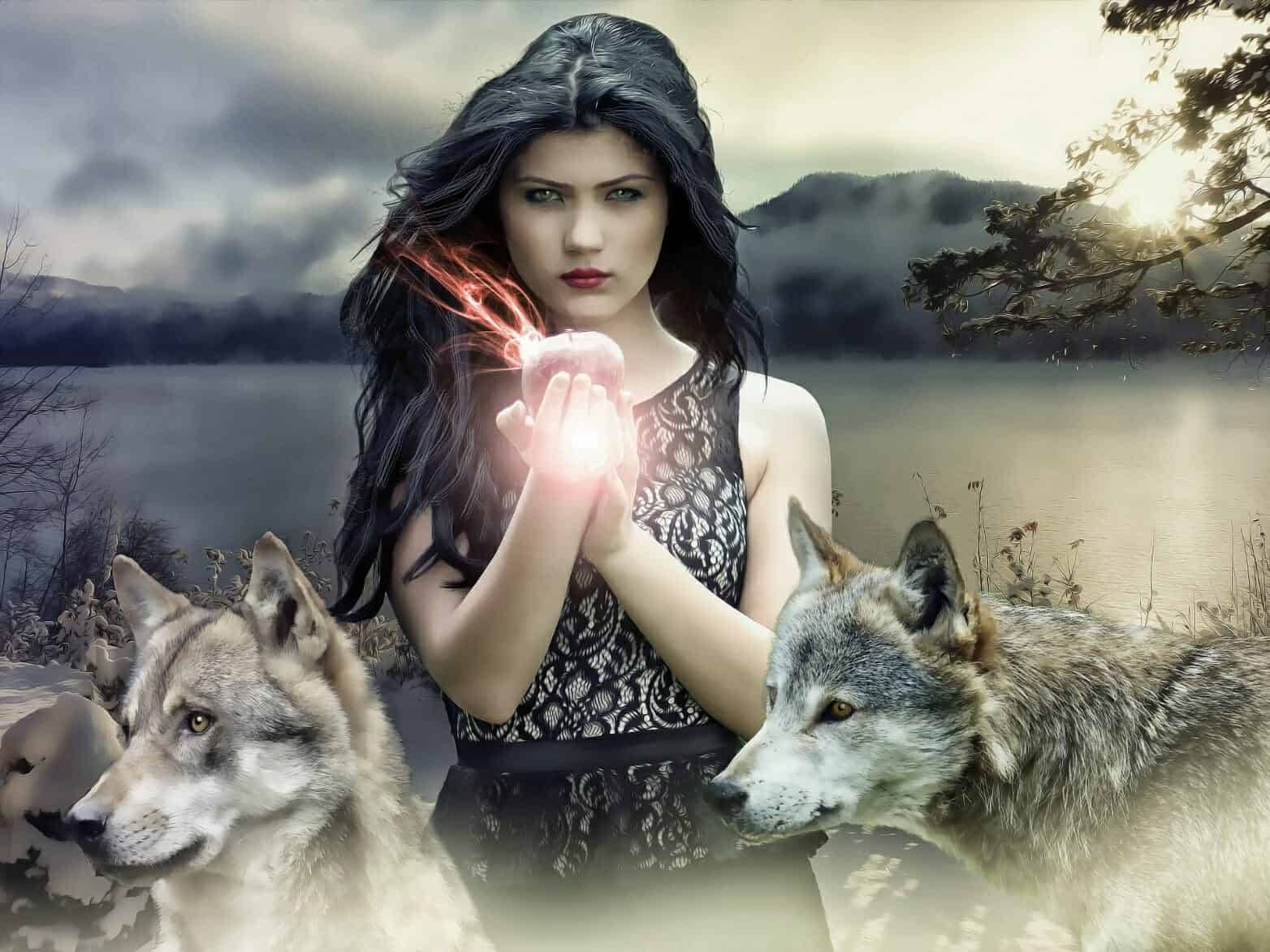 White Witch Creates Love Spell